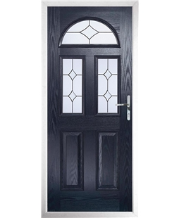 The Glasgow Composite Door in Blue with Crystal Diamond