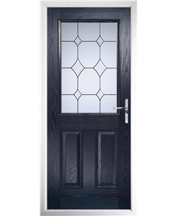 The Farnborough Composite Door in Blue with Crystal Diamond