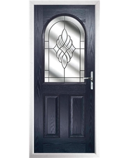 The Edinburgh Composite Door in Blue with Crystal Eternity