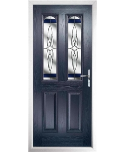 The Aberdeen Composite Door in Blue with Blue Crystal Harmony