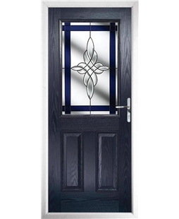 The Farnborough Composite Door in Blue with Blue Crystal Harmony