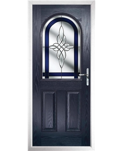 The Edinburgh Composite Door in Blue with Blue Crystal Harmony