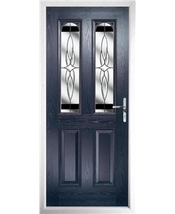The Aberdeen Composite Door in Blue with Black Crystal Harmony