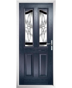 The Birmingham Composite Door in Blue with Black Crystal Harmony