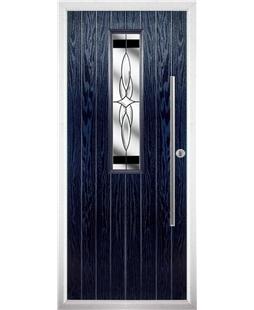 The York Composite Door in Blue with Black Crystal Harmony