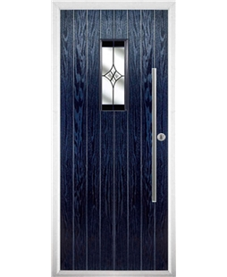 The Zetland Composite Door in Blue with Black Crystal Harmony