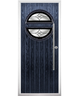 The Xenia Composite Door in Blue with Black Crystal Harmony