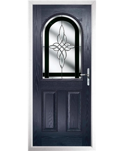 The Edinburgh Composite Door in Blue with Black Crystal Harmony