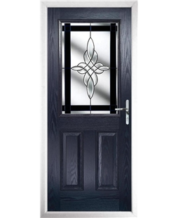 The Farnborough Composite Door in Blue with Black Crystal Harmony
