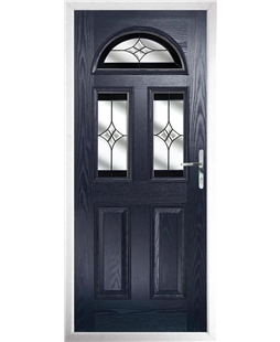 The Glasgow Composite Door in Blue with Black Crystal Harmony