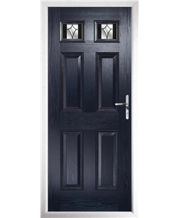 The Ipswich Composite Door in Blue with Black Crystal Harmony