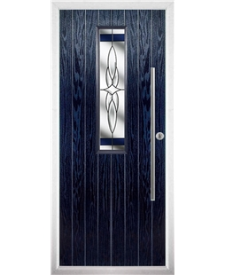The York Composite Door in Blue with Blue Crystal Harmony