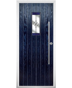 The Zetland Composite Door in Blue with Blue Crystal Harmony