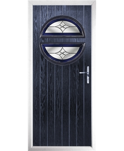 The Queensbury Composite Door in Blue with Blue Crystal Harmony
