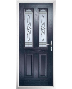 The Aberdeen Composite Door in Blue with Crystal Harmony Frost