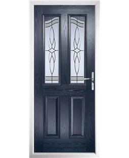 The Birmingham Composite Door in Blue with Crystal Harmony Frost