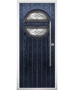 The Xenia Composite Door in Blue with Crystal Harmony Frost
