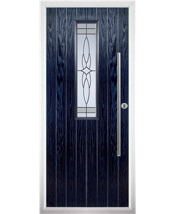 The York Composite Door in Blue with Crystal Harmony Frost