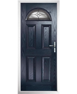 The Derby Composite Door in Blue with Crystal Harmony Frost