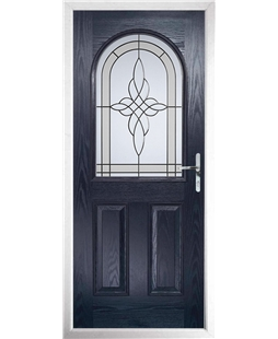 The Edinburgh Composite Door in Blue with Crystal Harmony Frost