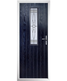 The Sheffield Composite Door in Blue with Crystal Harmony Frost