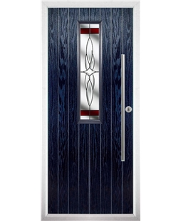 The York Composite Door in Blue with Red Crystal Harmony