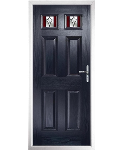 The Ipswich Composite Door in Blue with Red Crystal Harmony