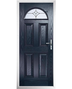 The Derby Composite Door in Blue with Crystal Tulip Arch