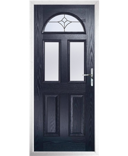 The Glasgow Composite Door in Blue with Crystal Tulip Arch