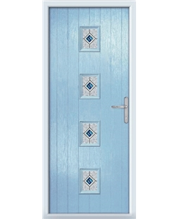 The Uttoxeter Composite Door in Blue (Duck Egg) with Daventry Blue