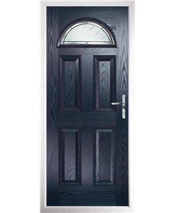 The Derby Composite Door in Blue with Diamond Cut
