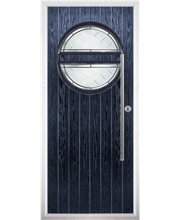 The Xenia Composite Door in Blue with Diamond Cut