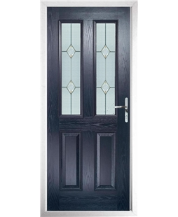The Cardiff Composite Door in Blue with Classic Glazing