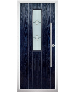 The York Composite Door in Blue with Classic Glazing