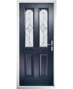 The Aberdeen Composite Door in Blue with Eclipse Glazing