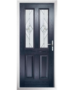 The Cardiff Composite Door in Blue with Eclipse Glazing