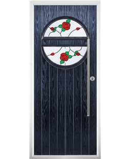 The Xenia Composite Door in Blue with English Rose