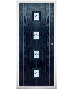 The Leicester Composite Door in Blue with Finesse Glazing
