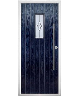 The Zetland Composite Door in Blue with Finesse Glazing