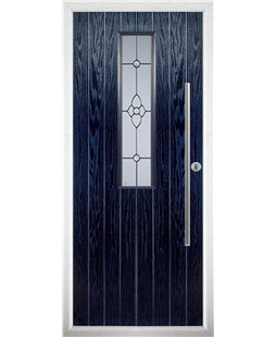 The York Composite Door in Blue with Finesse Glazing
