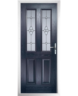 The Cardiff Composite Door in Blue with Finesse Glazing