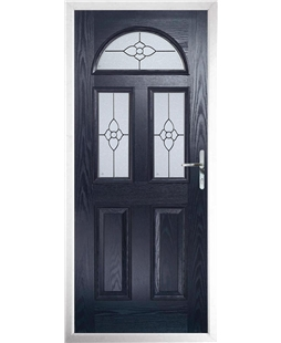 The Glasgow Composite Door in Blue with Finesse Glazing