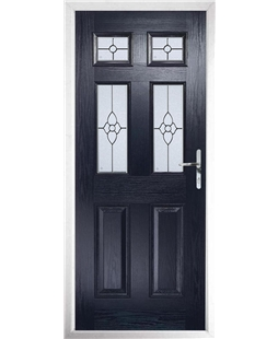 The Oxford Composite Door in Blue with Finesse Glazing