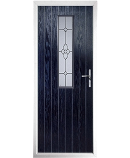 The Sheffield Composite Door in Blue with Finesse Glazing