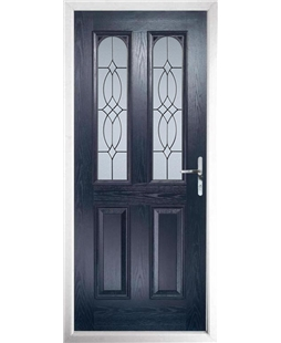 The Aberdeen Composite Door in Blue with Flair Glazing