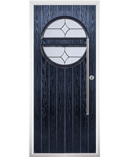 The Xenia Composite Door in Blue with Flair Glazing