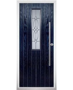 The York Composite Door in Blue with Flair Glazing
