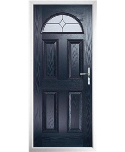 The Derby Composite Door in Blue with Flair Glazing