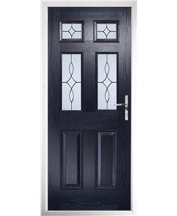 The Oxford Composite Door in Blue with Flair Glazing