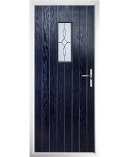 The Taunton Composite Door in Blue with Flair Glazing